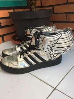 Adidas Originals Jeremy Scott JS Wings 2.0 Skate Shoes Silver Black