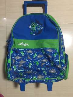 Smiggle trolley backpack light up wheels