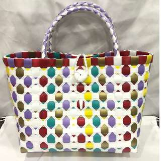 Women's Small Braided Shopper Tote w/ Button