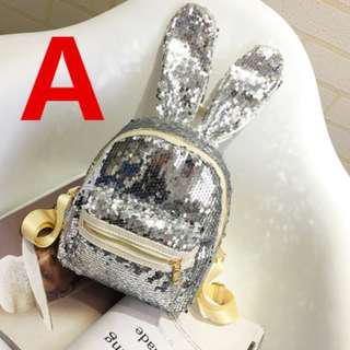 Sequins Rabbit Ear Bagpack