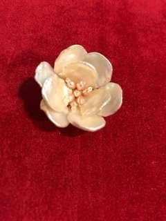 Japan bought handmade pearl camellia pin