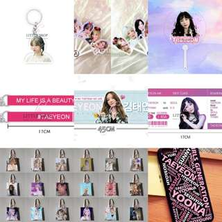 TAEYEON unofficial goods