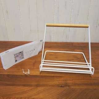 日本正品Tosca廚房白色x木書架book stand