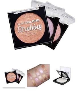 Strobing illuminating powder