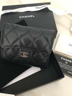 Chanel Small Wallet荔枝皮短銀包