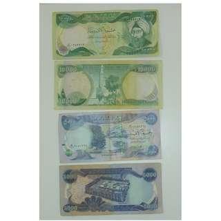Iraq banknotes x2