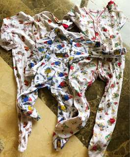 Mothercare, Marks and Spencer etc overall 3 mix motif