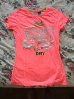 superdry pink tee shirt