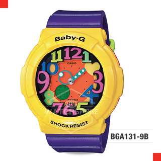 FREE DELIVERY *CASIO GENUINE* [BGA131-9B] 100% Authentic with 1 Year Warranty! BGA-1319B BGA-131-9B BGA1319B