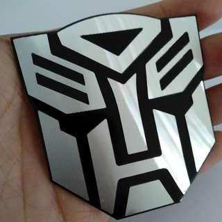 Transformers Pastic Emblem