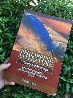 Philippine Literature (A history and Anthology): English Edition by: Bienvenido Lumbera and Cynthia Nograles Lumbera