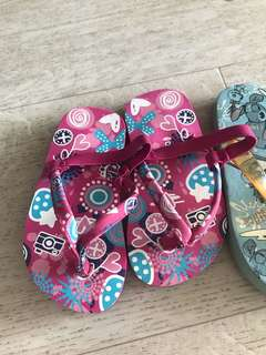 Stitch slippers / purple sandals