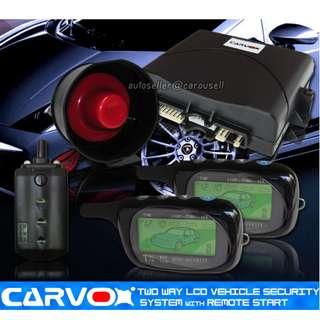 CARVOX TWO WAY LCD REMOTE AUTO START ALARM