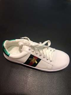 Gucci Sneakers With Gold Ant