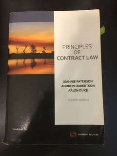 Principles of Contract law / cases and materials