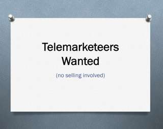 📍 Telemarketers Wanted 📍