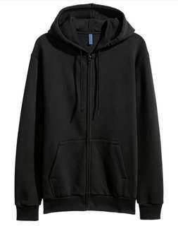 H&M Unisex Black Zippet Jacket