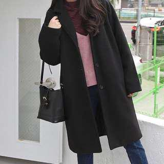 Black Lapel Coat