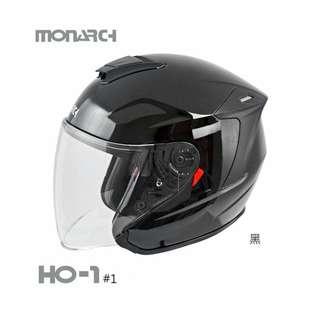 🚚 【現貨】MONARCH M2R 得安 HO-1 內墨鏡 半罩 3/4罩 安全帽 內襯可拆 - 黑 白 平灰 平藍