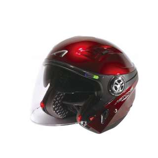 🚚 ASTONE  DJ-10C 半罩 3/4罩 安全帽 -內置墨片- 酒紅(未包含下巴)