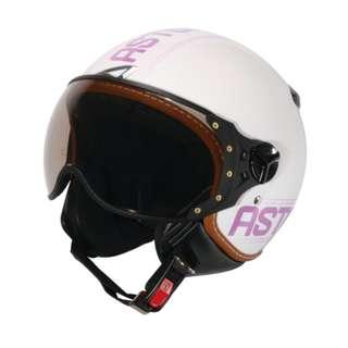 🚚 ASTONE KSR DD52 法國 飛行員 半罩 3/4罩 安全帽 復古帽 - 白/紫