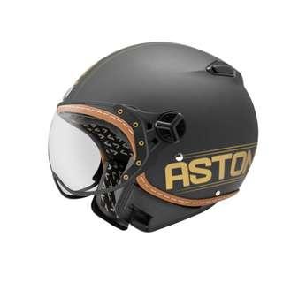 🚚 ASTONE KSR DD52 法國 飛行員 半罩 3/4罩 安全帽 復古帽 - 平黑/金