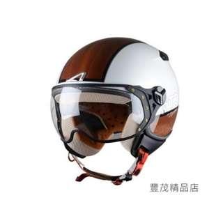 🚚 ASTONE KSR DD70 法國 飛行員 半罩 3/4罩 安全帽 復古帽 - 白