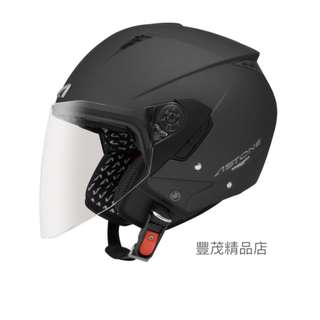 🚚 ASTONE RST 半罩 3/4罩 內襯全可拆 內墨鏡 安全帽 - 消光黑