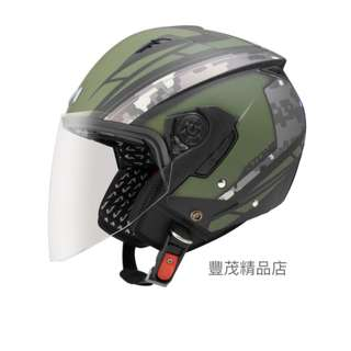 🚚 ASTONE RST AQ1 半罩 3/4罩 內襯全可拆 內墨鏡 安全帽 - 平黑/綠