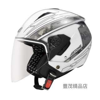 🚚 ASTONE RST AQ1 半罩 3/4罩 內襯全可拆 內墨鏡 安全帽 - 白/白