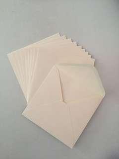 Cream Square Envelopes