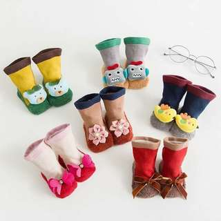 baby cartoon non slip socks