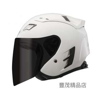🚚 SBK SUPER-RR 半罩 3/4罩 安全帽 內襯可拆 素色 - 白