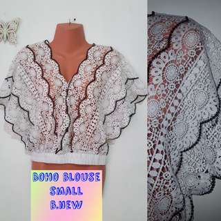 boho lacey top