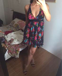 Stretchy floral dress s-m