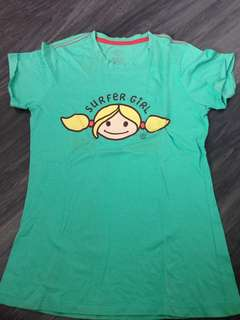 Surfer Girl Green Shirt
