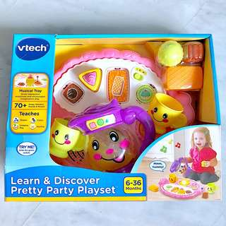 (In-Stock) VTech Learn & Discover Pretty Party Playset, Pink (Brand New)