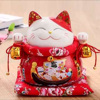 一帆风顺 Fortune Cat for home n office gift