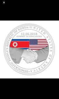 Silver World Peace Medallion Trump-Kim Summit