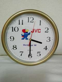 Vintage JVC World Cup 1998 Quartz Clock