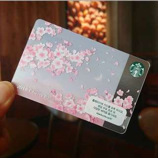 Starbucks Korea Cherry Blossom Card