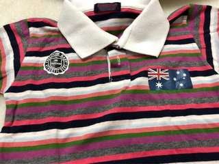Baby colour stripes polo shirt
