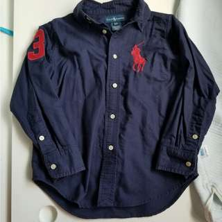🈹Ralph lauren shirt dark blue 4T