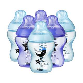 🚚 Tommee Tippee Closer to Nature Catch Me Quick Bottles, 260 ml, Blue/Purple