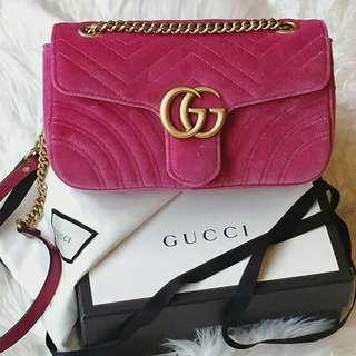 Gucci medium velvet