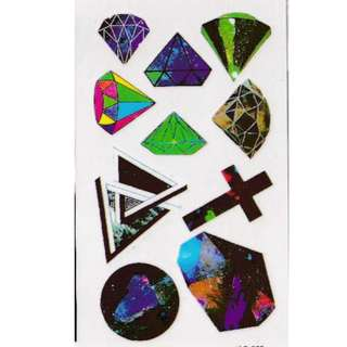 Galaxy Diamonds Temporary Tattoos