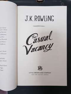 The casual vacancy by J K Rowling hardcover