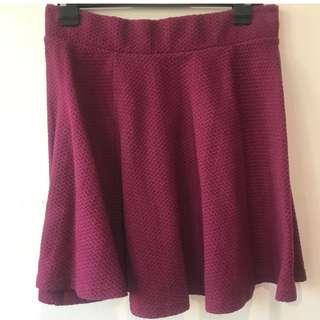 Red H&M Skater Skirt
