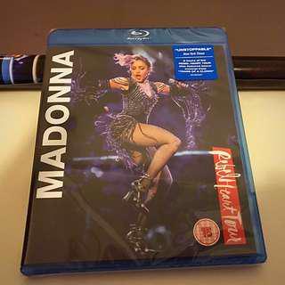 全新未拆 Madonna 最新演唱會藍光 Blu-ray 碟 附送雙面海報