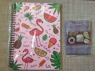Take 2! Big Pink Notebook & Native Pouch with Shells